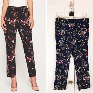 Jules & Leopold Navy Floral Stretch Pants Sz M